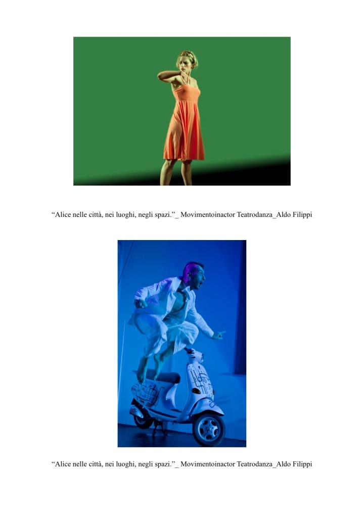 Proposta - Alice nelle città, nei luoghi, negli spazi. - Compagnia Movimentoinactor Teatrodanza